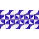 Patrón camino de mesa espiral